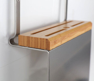 Multi-functional kitchen knife and cutting board stainless steel storage hanger rack
