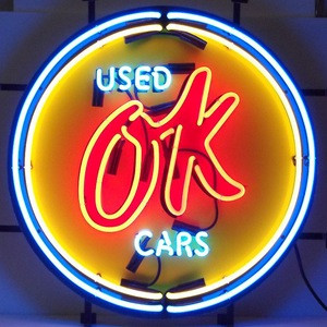 Neon car light sign