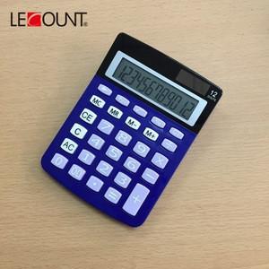 Office School Supplies Electronic Calculator Business Stationery Home Custom Logo 12 Digits Desktop Electronic Solar Calculator