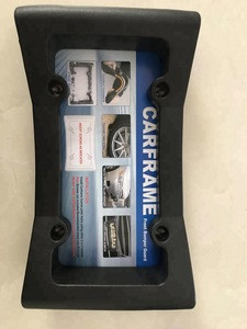 Rubber Front Bumper Guard, Front Bumper Protection, License Plate Frame. Flexible Rubber Cushions Parking Bumps