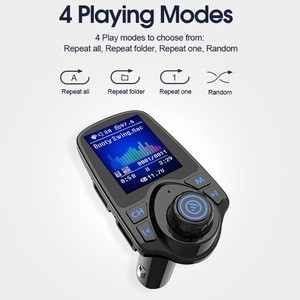 T11D Bluetooth Handsfree Car Kit FM Transmitter MP3 Player Fast Quick Dual USB Charger VS t43 blue tooth car kit with best price