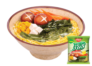 [THQ VIETNAM ] Nissin 365 Non-fried noodle Vegie Japanese Seaweed Miso Soup 66gr*30 bags