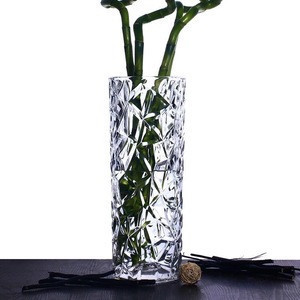 Transparent glass vase hydroponic green radishes flower implement small fresh dried flower