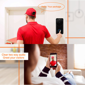 Tuya WiFi Video Doorbell Wireless 720P Security Camera Two-Way Audio With Night Vision Video Intercom Door phone