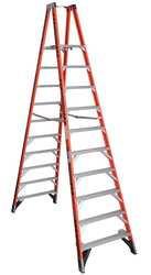 Twin Platform Ladder Fiberglass 12 ft.
