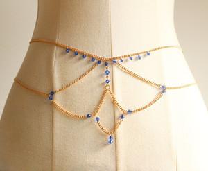 Womens chain waist belly chain belt
