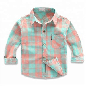 0-18years new request children wear boys long sleeve shirt plaid cotton kids shirt children's casual spring and autumn wear