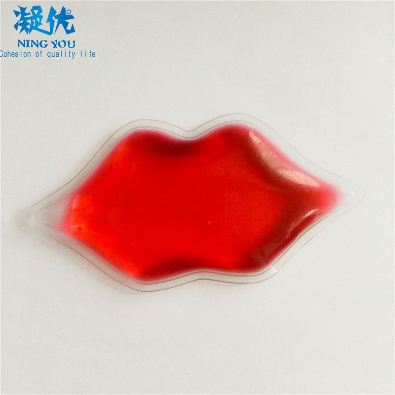 New Arrival Non-toxic Gel Lip Shaped Ice Pack Reusable Cold Compress for Lip Enhancement