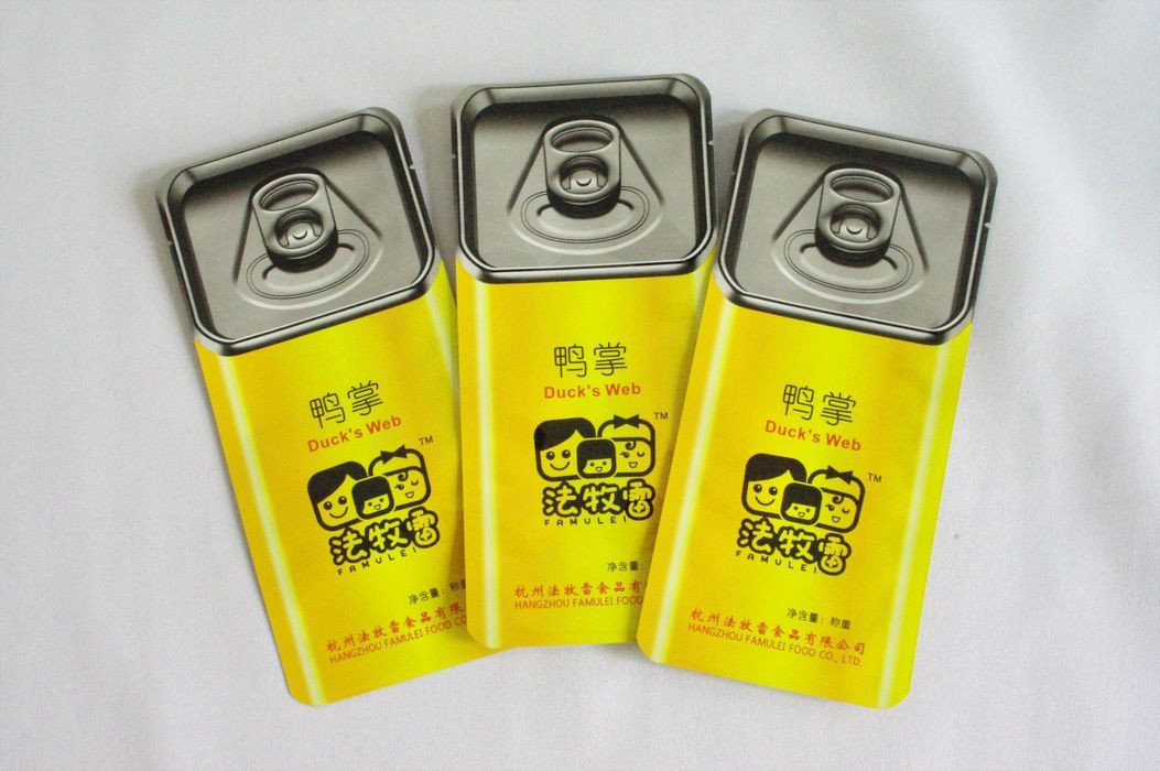 Pre-cooked meat, roast duck/chicken high barrier packaging flexible tin retort pouch