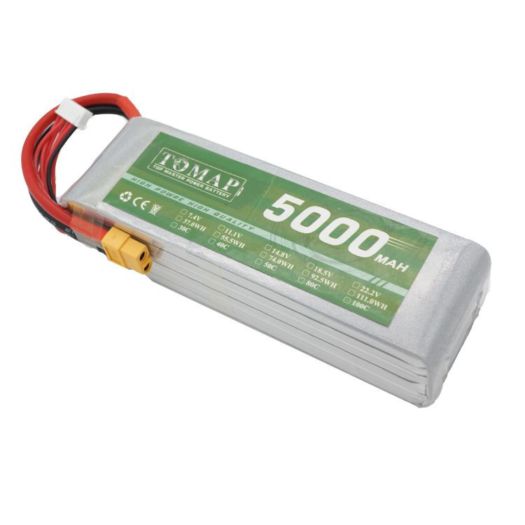 High Discharge Rate 80C 5000Mah 6S Rechargeable RC Lipo Battery For Fpv Helicopter Drone