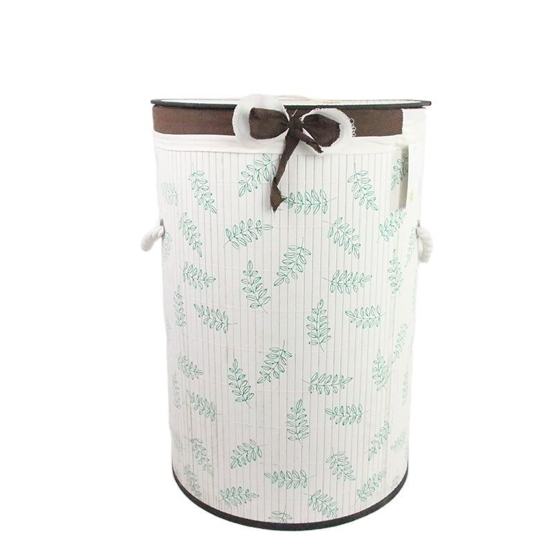 Bamboo hamper storage basket