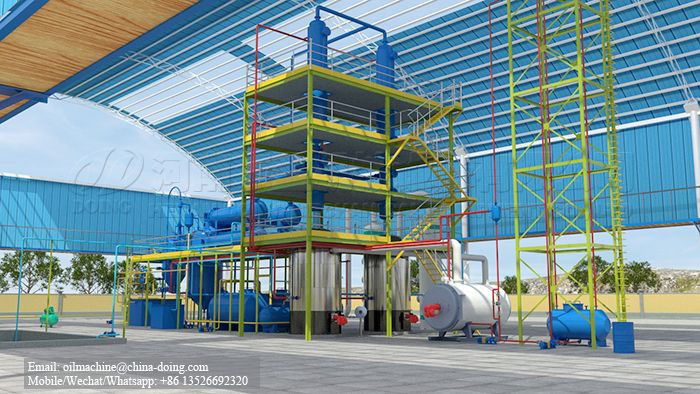 Waste oil refinery plant to get diesel fuel from used engine oil
