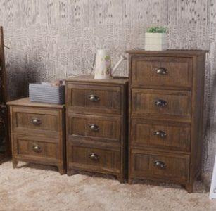 Brown Bedside Table With Drawers