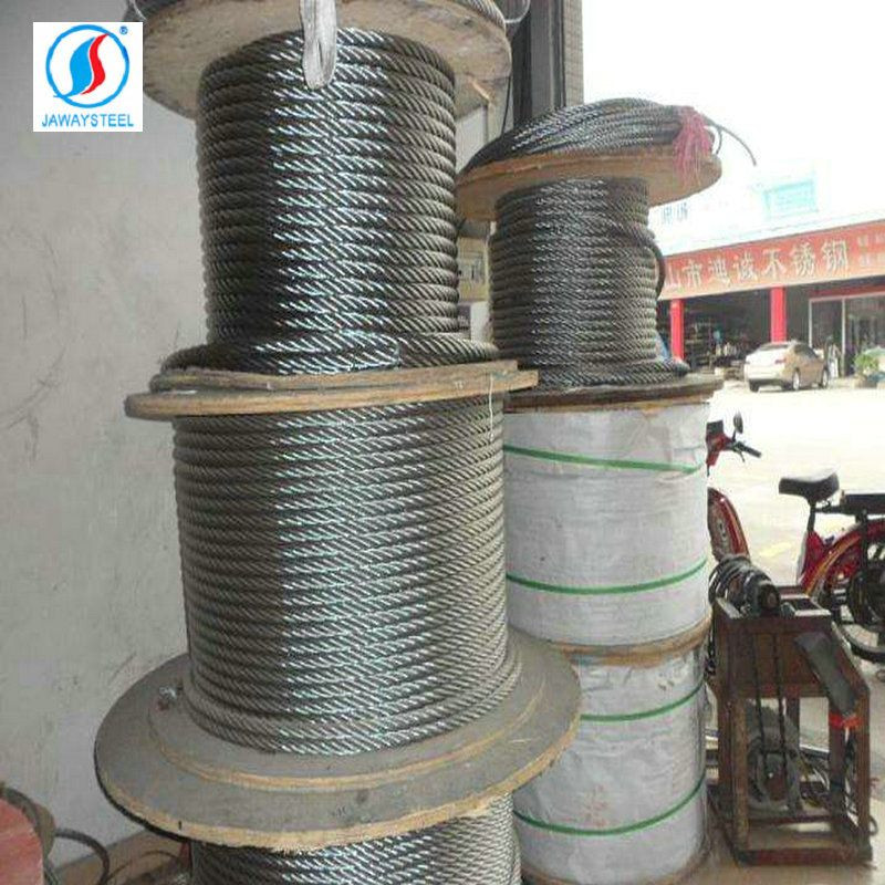 High strength galvanized carbon steel wire rope for lifting