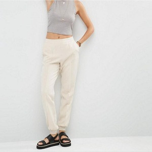 2016 new womens pants luxe tailored jogger co-ord cigarette pants with side pockets and stretch band to back design harem pants