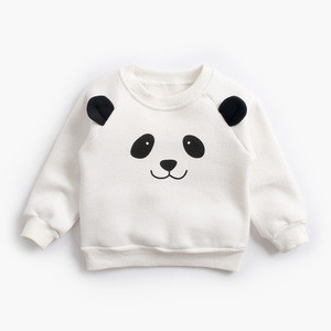 2018 winter thick animal pattern fleece sweatshirt baby cute tops outdoor coutfit