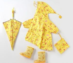 2020 New Product Cheap Cute Cartoon Kids Rain Boots Rainshoes Kids Raincoats Umbrella Set
