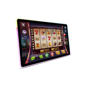 23.8 inch  4K RGB LED framed PCAP Interactive curved gaming monitor gambling machine  for casino slot gaming all in one computer