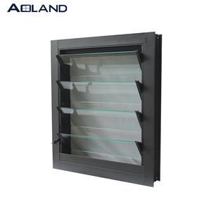 Aluminium frame glass adjustable shutters windows glass louvre