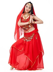 Belly dance performance costume for women five piece sets belly dance wear