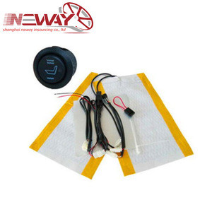 Car seat heater and cooler heating and cooling system
