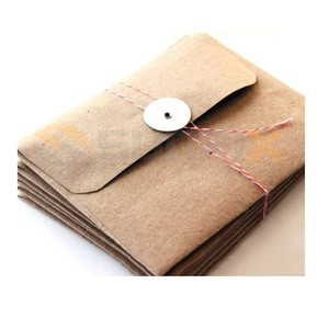 Fancy Mini Brown Natural Kraft Paper Envelope