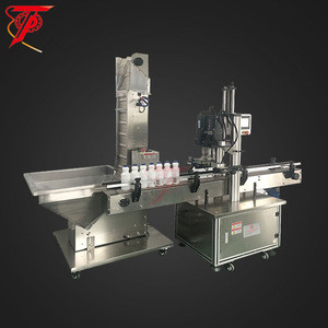 Hight quality automatic plastic bottle glass jar screw capping machine