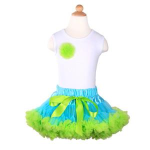Hot sale newborn kids clothing set matching baby girls tutu skirt