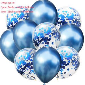 K699 New Latex Balloons 10pcs/lot 12inch Colored Confetti Birthday Party Decorations Mix Rose Wedding Decoration Helium Ballon