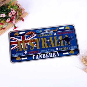 Kangaroo Kingdom Australia Custom Embossed License Plates