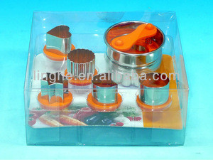 Linzer cookie cutter set 5pcs, cookie maker, cookie tools(LH-BZ26)