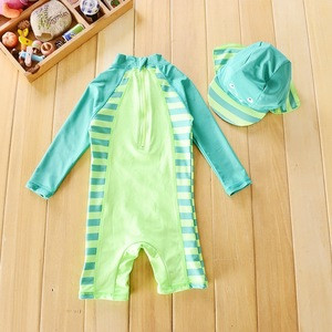Long sleeve one piece baby boy swimming suit