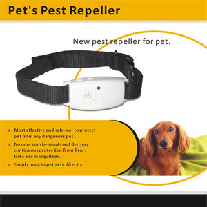 Most Effective And Safest Electronic Ultrasonic Repeller Pet Anti Fleas Collar With Adjustable rope