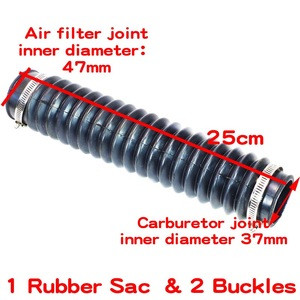 Motorcycle Air Filter Hose Tube Fits For ATV 50cc 110cc 125cc 150cc 90cc Chinese Kazuma Meerkat Falcon 25cm Hose