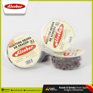 Natural Black Table Olives Aragon Wholesale | 0,1kg 1kg or Bulk | Alcober
