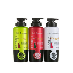 Natural Protein Plant Shampoo Conditioner Hair Care Set For Hair Moisturizing Brightness Smoothness Intensifying