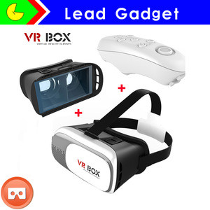 New style for smart phone 3D Glasses VR Virtual Reality +wireless Controller VR Cinema Equipment in stock , vr 3d glasses