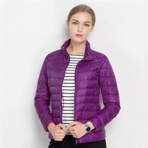 Packable women lightweight down jackets for winter ladies down jacket wear