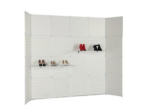 Plastic slatwall panels/slatwall for display stand / Angled display slatwall shelves