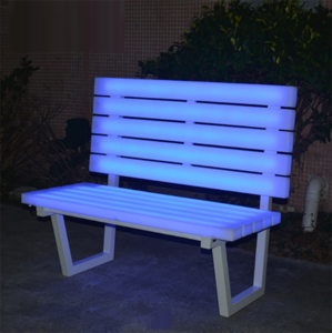 Plastic waterproof outdoor furnitures LED light patio benches for parks and gardens