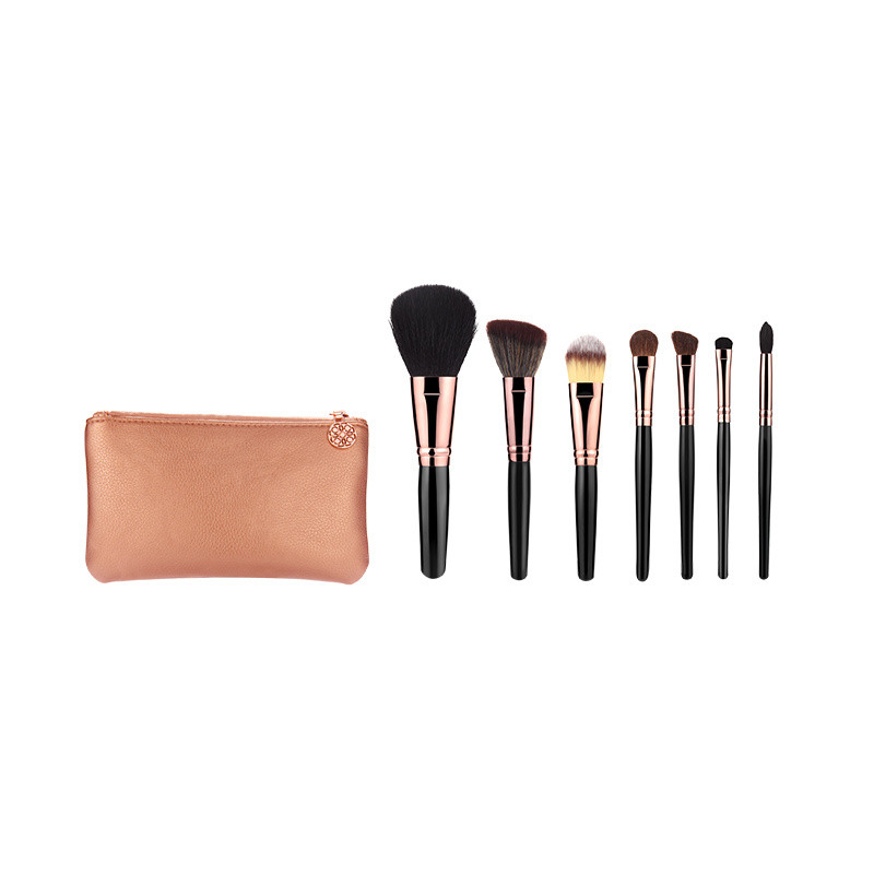 Preminum Soft Synthetic Hair Travel Cosmetic Brush with Brush Holder