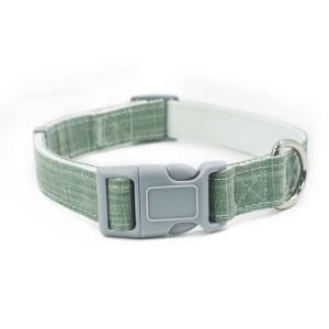 Premium Comfortable Cotton Padded Soft Bamboo Fiber Pet Dog Collar leash and harness set