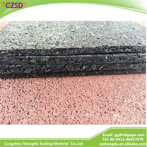 SD outdoor rubber mat rubber flooring for gym
