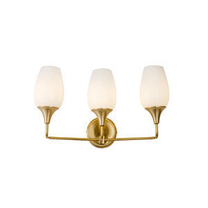Simple Design Led/E27/E14 Wall Lamp 1/3-Light with Copper and White Color Glass Material Small Modern Wall Mounted Sconce Light