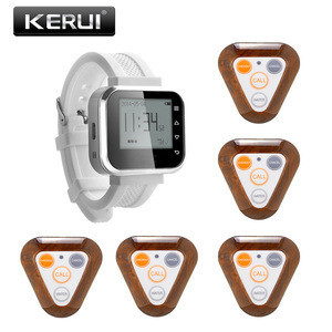 Smart Watch Pager KR-F66 plus Service Bell Restaurant Buzzers Pager Wireless Waiter Calling System