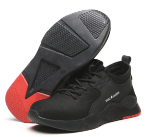 Stylish Sports Design Black Breathable Safety Shoes