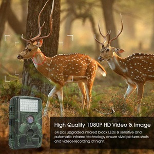 TEC.BEAN Trail Camera IP65 12MP 1080P HD 2.4 Inch LCD Screen with 120 Degree Wide Angle,  42PCS 940NM IR LEDs Night Vision