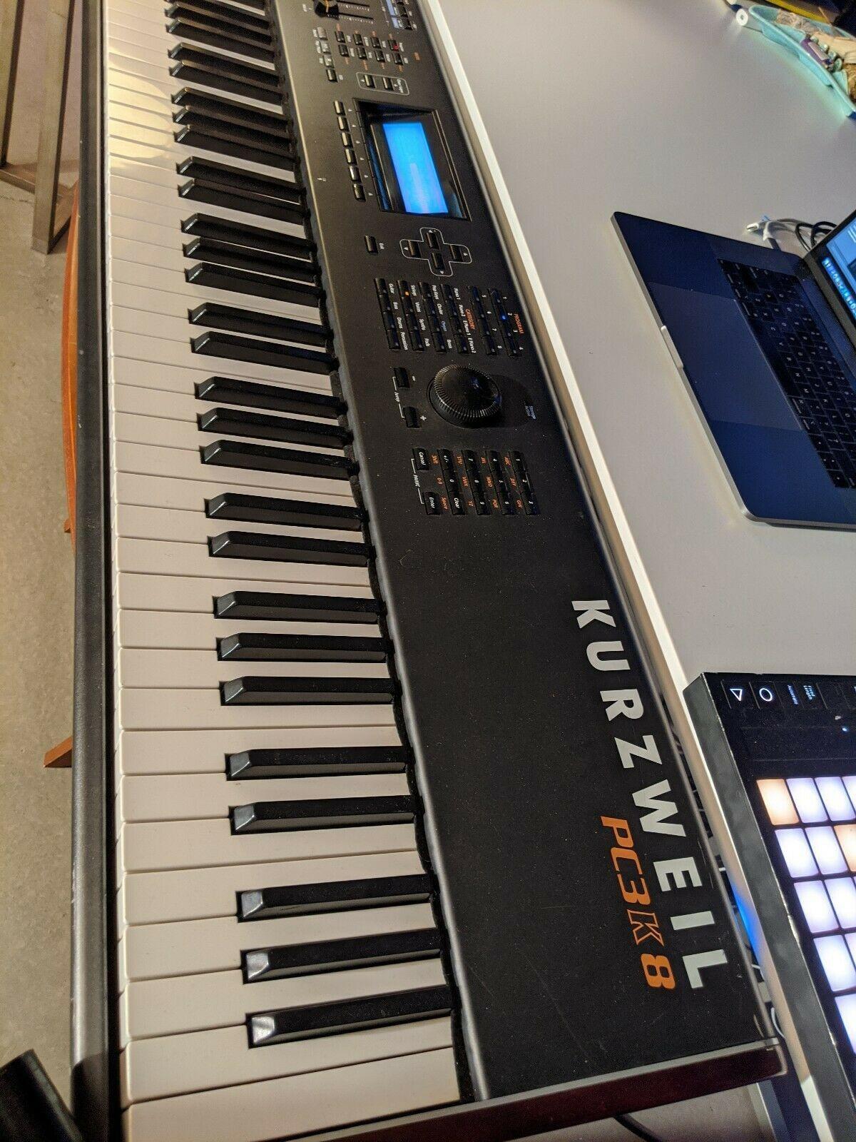 Kurzweil PC3K8 88-key Keyboard Workstation Synthesizer with Custom Flight Case