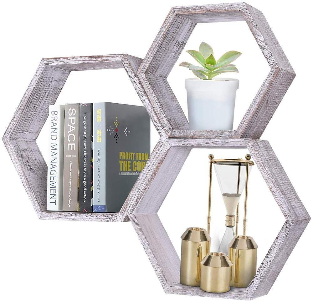 Hexagonal Floating Shelf