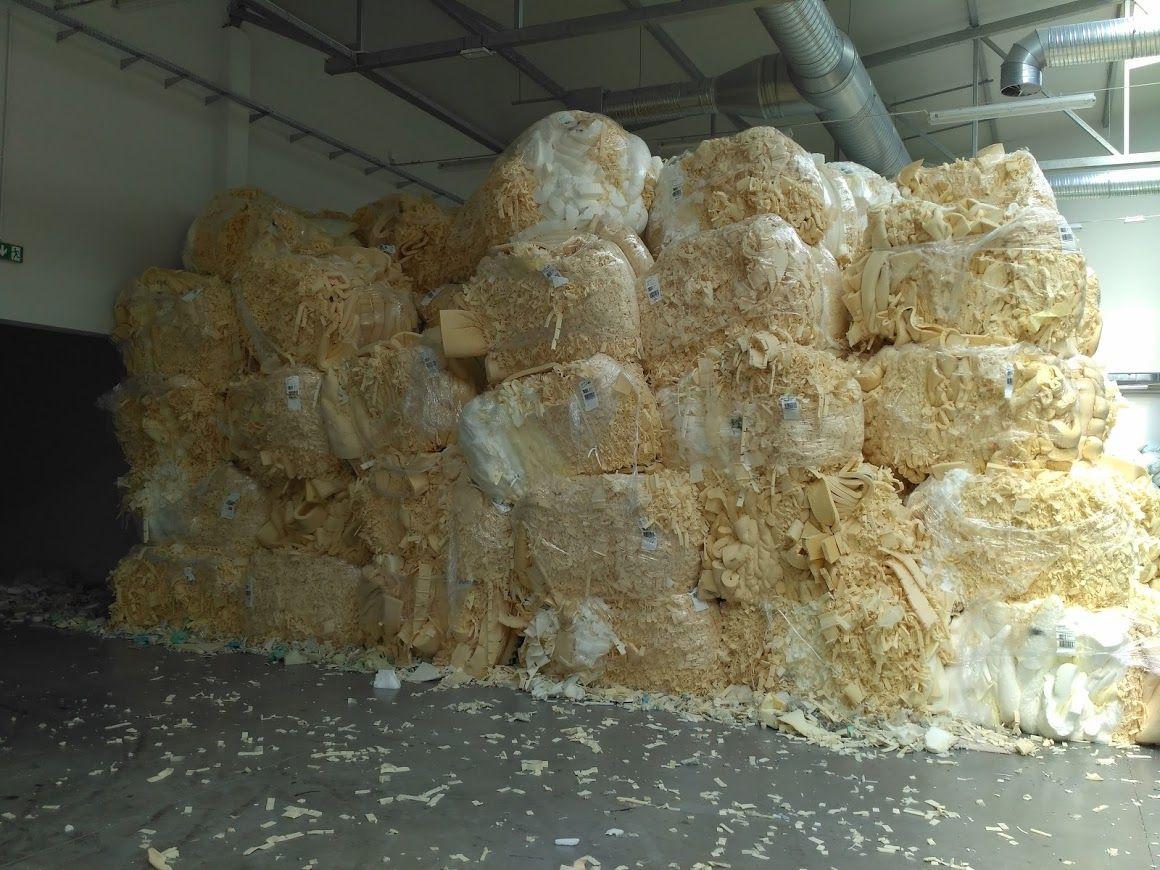 Polyurethane foam scraps